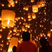 Chinese lanterns being released – symbolic of commitment to community wellness through psychotherapy