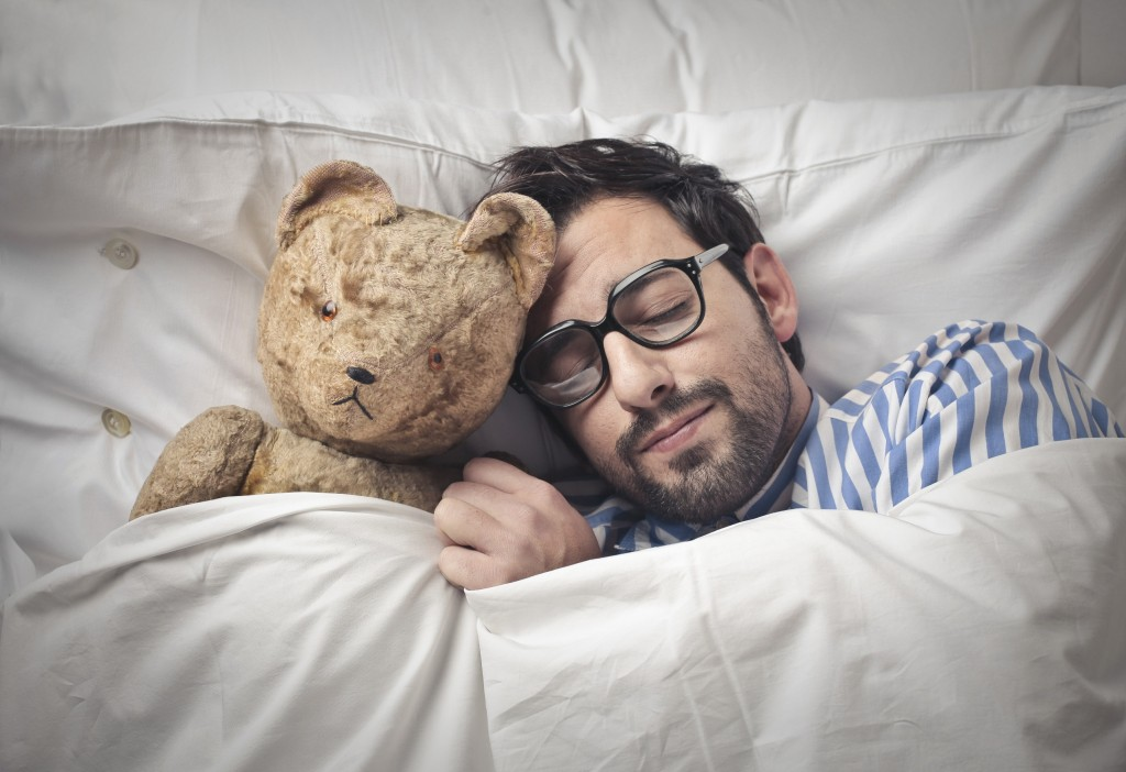 man-with-teddybear for self love article